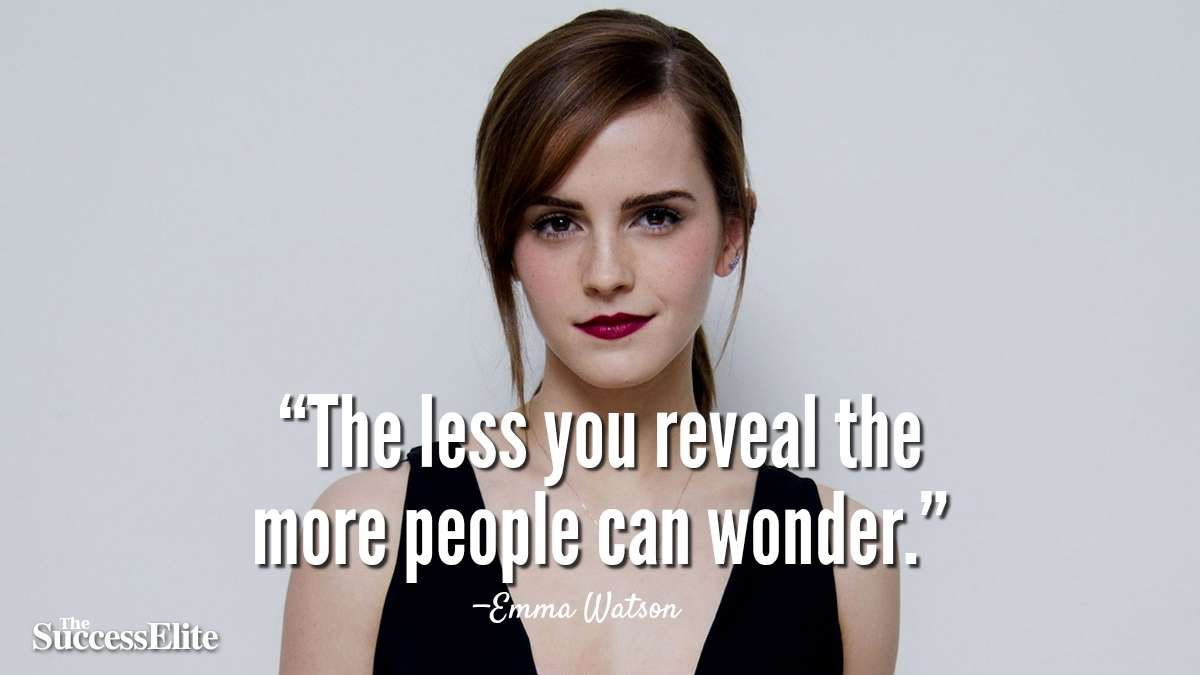 Top 45 Emma Watson Quotes on Confidence