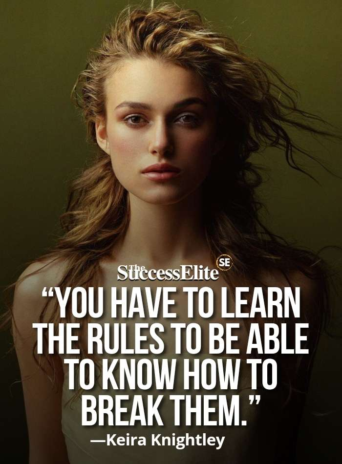 Top 30 Keira Knightley Quotes on Perfection
